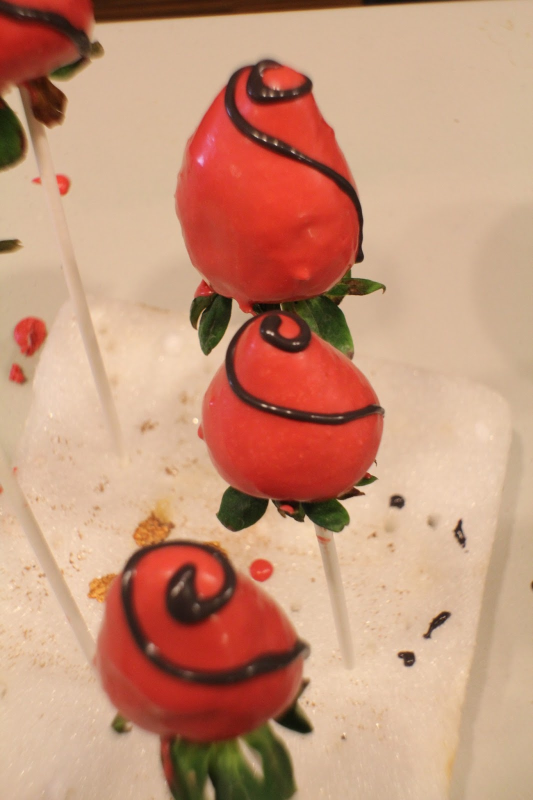 Chocolate Covered Strawberry Candy Bouquet by KimsKandyKreations 010.jpg